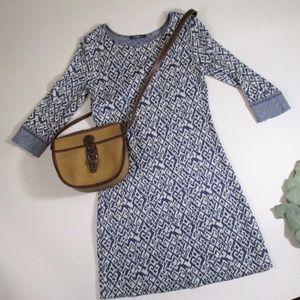 Tart Dresses - Final Tart Blue Southwestern Geometric Knit Dress